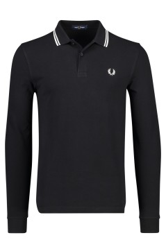Fred Perry polo lange mouw zwart