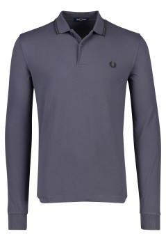 Fred Perry polo lange mouw grijs