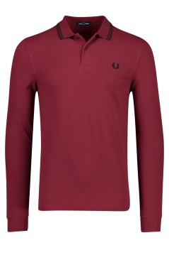 Fred Perry polo lange mouw bordeaux