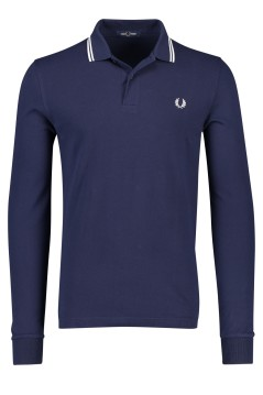 Lange mouwen polo donkerblauw Fred Perry