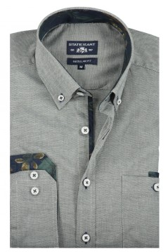 State of Art shirt groen button down