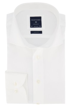 Overhemd Profuomo Originale Slim Fit wit