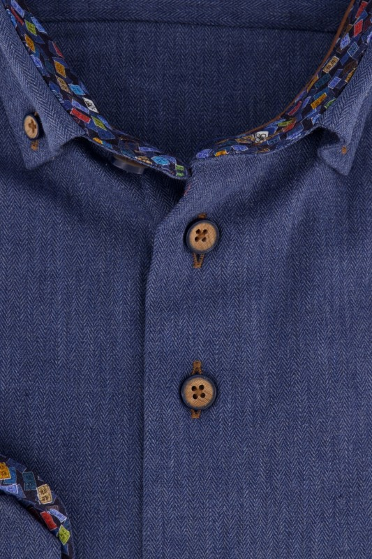 Portofino shirt Tailored Fit denim look