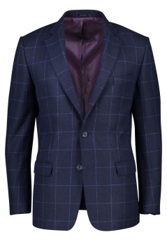 Colbert donkerblauw geruit Magee classic fit