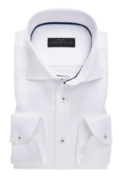 John Miller shirt spierwit Slim Fit
