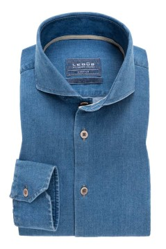 Ledub overhemd Tailored Fit denimblauw