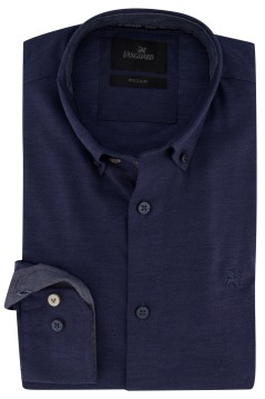 Overhemd Vanguard donkerblauw button down
