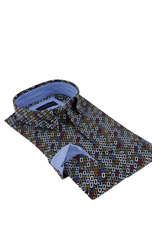 Portofino shirt print multicolor Casual Fit
