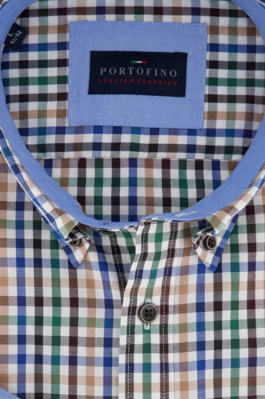 Portofino overhemd geruit Regular Fit