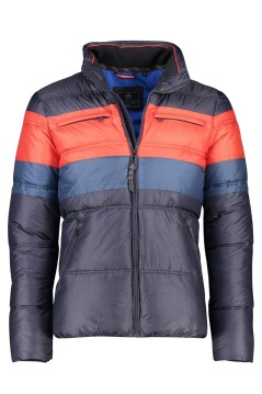 Winterjas New Zealand Twin Peaks navy oranje