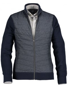 State of Art vest donkerblauw merinowol mix