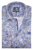 State of Art shirt blauw fantasy print