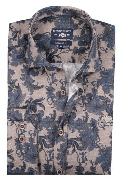 State of Art shirt donkerblauw met stretch