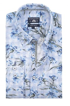 State of Art lichtblauw casual shirt button down