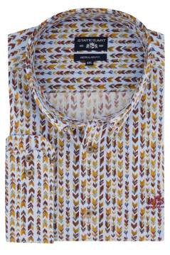 State of Art shirt rood geel print