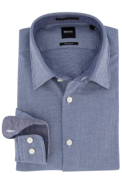 Overhemd Hugo Boss Regular Fit blauw gestreept