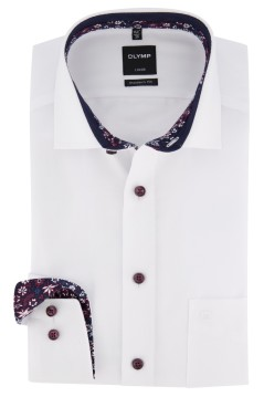 Olymp Luxor Modern Fit shirt wit structuur