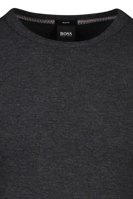 Hugo Boss t-shirt antraciet ronde hals