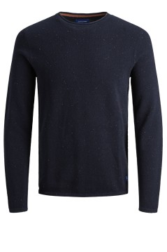 Jack & Jones trui navy ronde hals Plus Size