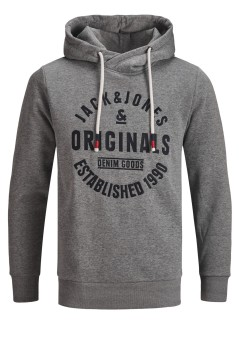Jack & Jones sweater grijs gemêleerd Plus Size