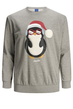 Kersttrui Jack & Jones Plus Size grijs