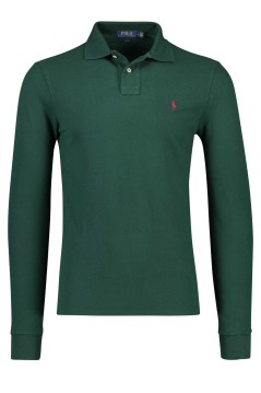 Ralph Lauren polo lange mouw groen Slim Fit