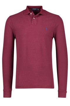 Ralph Lauren polo lange mouw Slim Fit bordeaux
