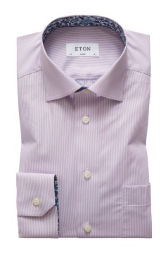 Eton shirt paars gestreept Classic Fit