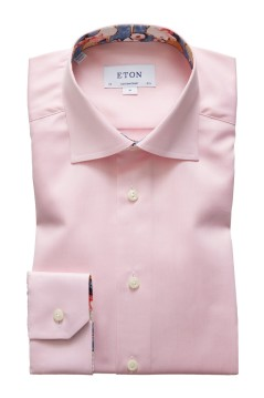 Eton shirt roze Contemporary Fit print in boord