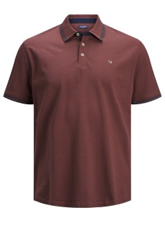Jack & Jones Plus Size polo wijn rood