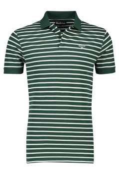 Barbour polo groen wit gestreept