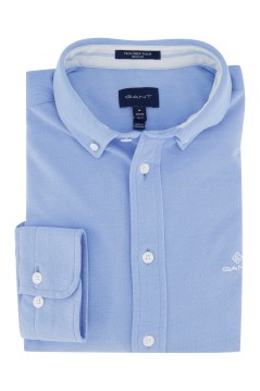 Gant overhemd button down blauw Regular Fit