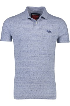 Superdry polo blauw melange Vintage Orange Label