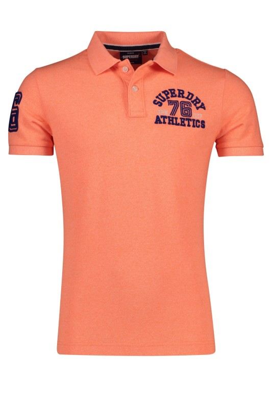 Superdry Classic Superstate polo koraal gemeleerd