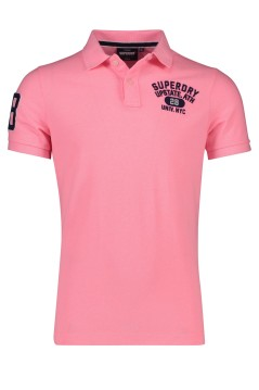 Superdry classic polo fluo roze