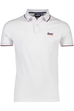 Witte polo Superdry