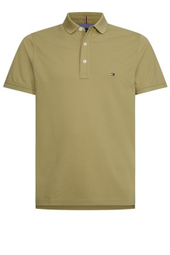 Tommy Hilfiger polo slim fit olijfgroen