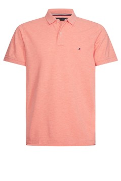 Tommy Hilfiger polo slim fit oranje melange