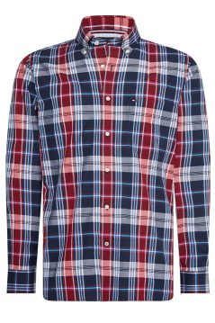 Tommy Hilfiger Big & Tall shirt navy rood