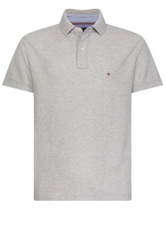 Tommy Hilfiger Big & Tall polo grijs gemêleerd