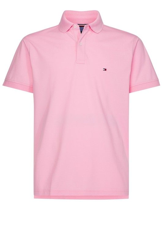 Tommy Hilfiger Big & Tall polo roze met logo