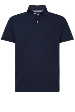 Tommy Hilfiger polo Big & Tall effen donkerblauw