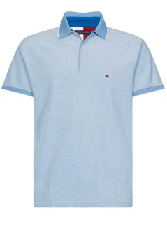 Tommy Hilfiger Big & Tall polo lichtblauw melange