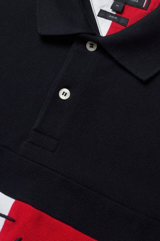 Polo Tommy Hilfiger navy print Big & Tall