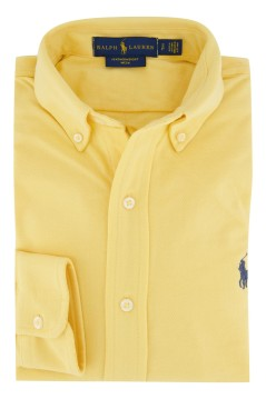 Ralph Lauren overhemd geel mesh button down