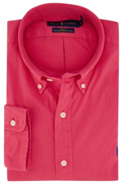 Overhemd Ralph Lauren rood button down Slim Fit