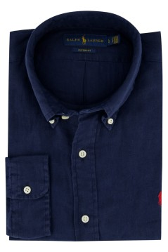 Overhemd Ralph Lauren donkerblauw button down