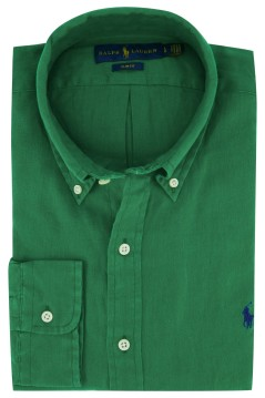 Ralph Lauren overhemd groen button down linnen