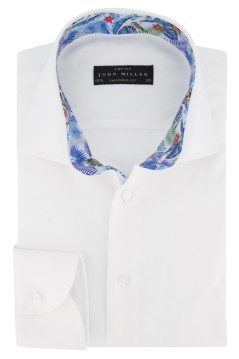 John Miller shirt sleeve 7 wit Tailored Fit