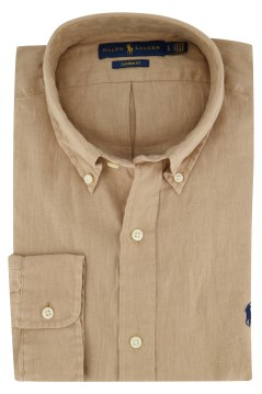 Overhemd Ralph Lauren beige Custom Fit